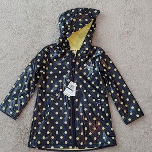 DKNY girl's navy and yellow raincoat NWT